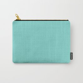 Aqua Blue Simple Solid Color All Over Print Carry-All Pouch
