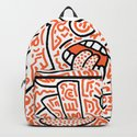"""The Face"" - inspired by Keith Haring v. orange by hellasch"