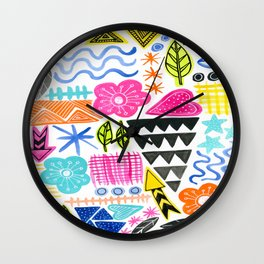 Modern Icons Wall Clock