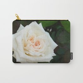 White Rose With Natural Garden Background Carry-All Pouch