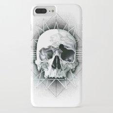 stippling skull iPhone 7 Plus Slim Case