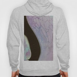 Fluid Art Acrylic Painting, Pour 25, Purple, Teal & Black Blended Color Hoody