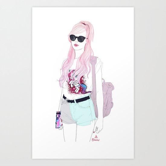 Pastel Fashion Art Print
