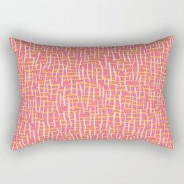 Pink Woven Burlap Texture Seamless Vector Pattern Rectangular Pillow