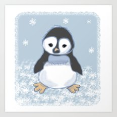 Frosty pinguin Art Print