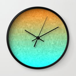 Blue and Orange Ombre - Flipped Wall Clock