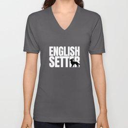 English Setter Breed Lover Unisex V-Neck