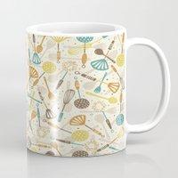 kitchen Mugs featuring Kitchen Utensils by Anna Deegan