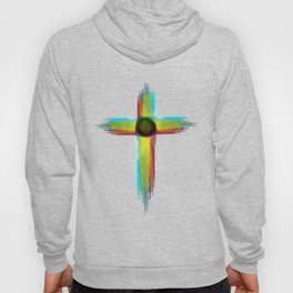 Cross Watercolor Design Hoody