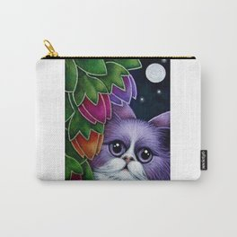 SPRING VIOLET FAIRY CAT IN MY GARDEN Carry-All Pouch