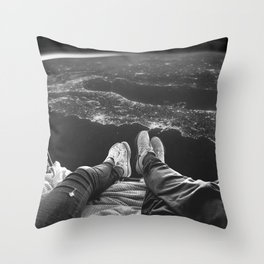 Lost in Space Over Italy Throw Pillow