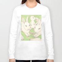 bunnies Long Sleeve T-shirts featuring Bunnies by Adi Yochalis