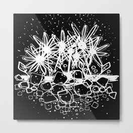 Scribble Doodle Flowers No.3B by Kathy Morton Stanion Metal Print