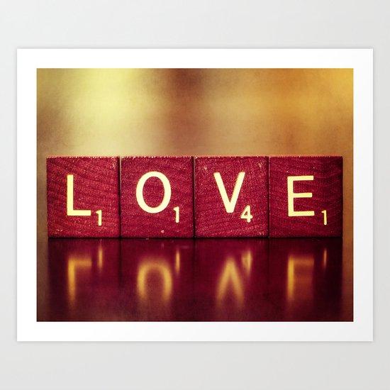 Love is a Beautiful Word II Art Print