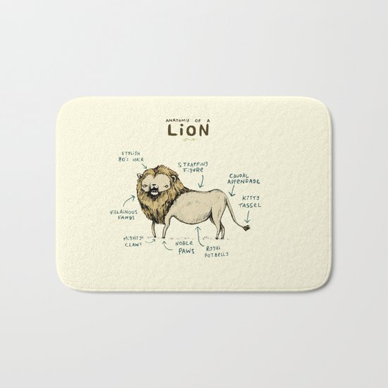 Anatomy of a Lion Bath Mat