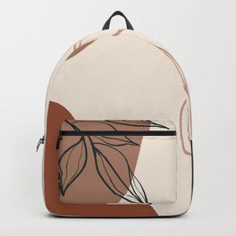 Organic circles flower Backpack