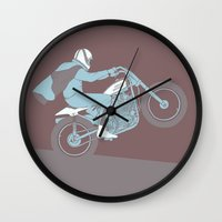die hard Wall Clocks featuring hard by The Junkers
