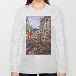 "Claude Monet ""The Rue Saint Denis, 30th of June 1878"" Long Sleeve T-shirt"