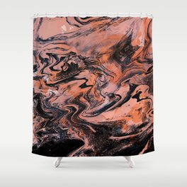 M A R B L E - grenadine mix Shower Curtain