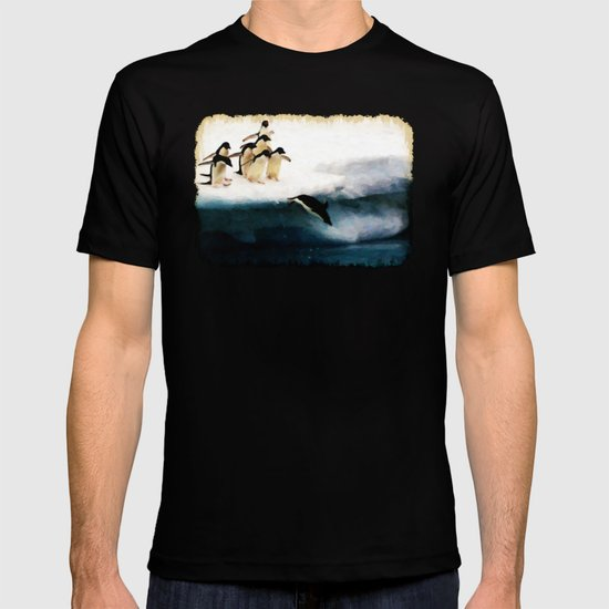The Penguin Party - Painting Style T-shirt