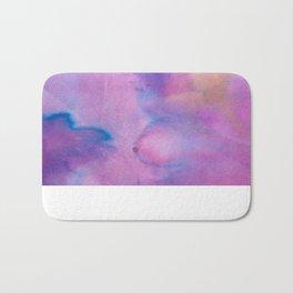 Purple Watercolour Bath Mat