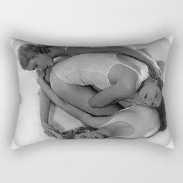 Rhythmic Pose, Human Art, Three Female Figures by Madame d'Ora black and white photograph  Rectangular Pillow