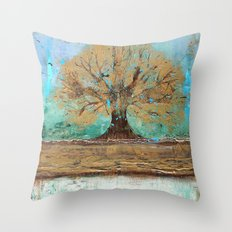 Summers Roots Throw Pillow