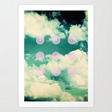 Clouds + Dots Art Print