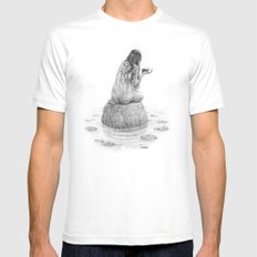 Nymph SMALL White Mens Fitted Tee