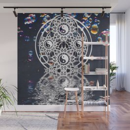 Yin Yang Symmetry Balance Reflection Wall Mural