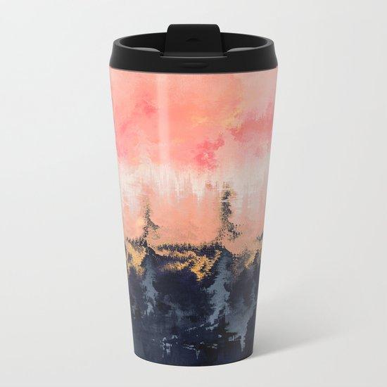 Abstract Wilderness Metal Travel Mug