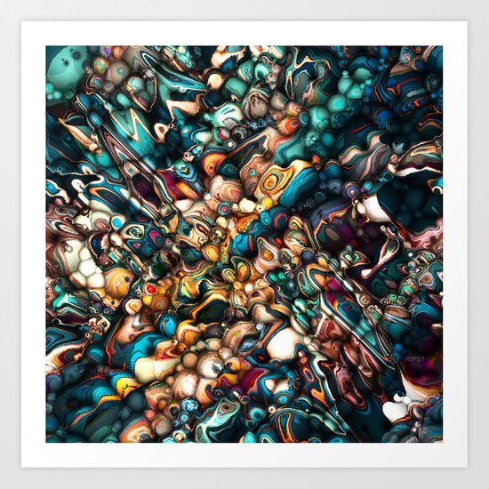 Abstract Texture And Colors Art Print