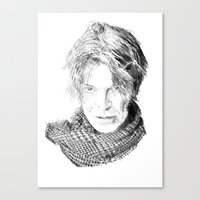 david fleck Canvas Prints featuring David by Rabassa