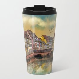 panorama city of Colmar France Travel Mug