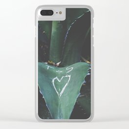 cactus love Clear iPhone Case