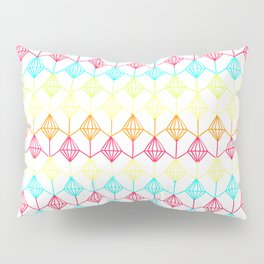 Neon diamonds pattern Pillow Sham