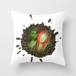 Splash of nature Throw Pillow