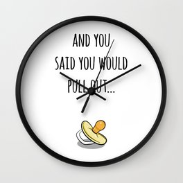 Oops Its a baby (TBD), funny pregnancy announcement Wall Clock