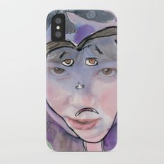 I feel scared iPhone X Slim Case
