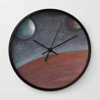 constellation Wall Clocks featuring constellation by karogfineart