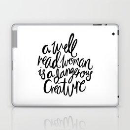Well Read Woman - Black Lettering Laptop & iPad Skin