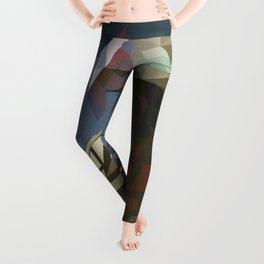 Eagle Low Poly Digital Art Print Leggings