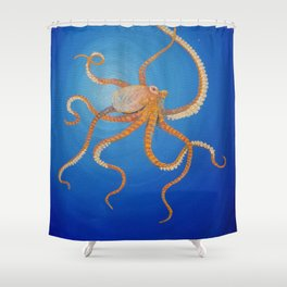 Octopus, Oil Painting by Faye Shower Curtain
