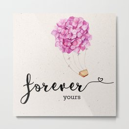 Forever yours | Valentine's day | Love Metal Print