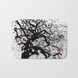 Red Birds in Snow by GEN Z Bath Mat