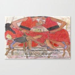 Tender Toenails Canvas Print