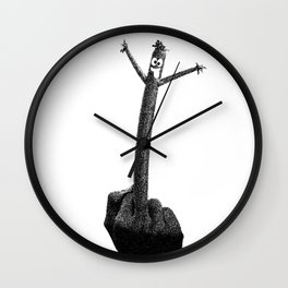 """""""The F Man"""" / Black and White Wall Clock"""