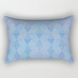 Zen Flow - Triangles Blue Watercolor Rectangular Pillow