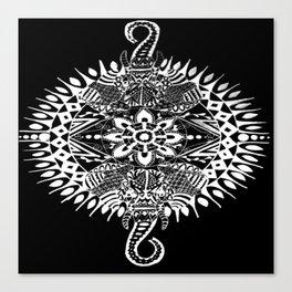 Elephant Mandala (Inverted) Canvas Print