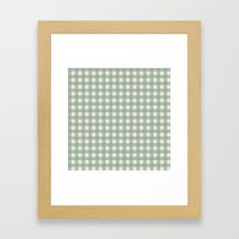 Buffalo Checks Plaid in Sage Green on Cream Framed Art Print